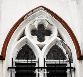 Stained Glass Windows of Holy Cross Cathedral Lagos BW by rubys polaroid