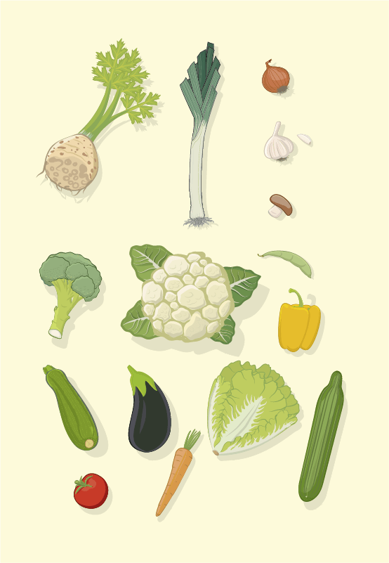 Plate: Vegetables
