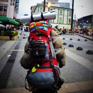 Rucksack und Backpack