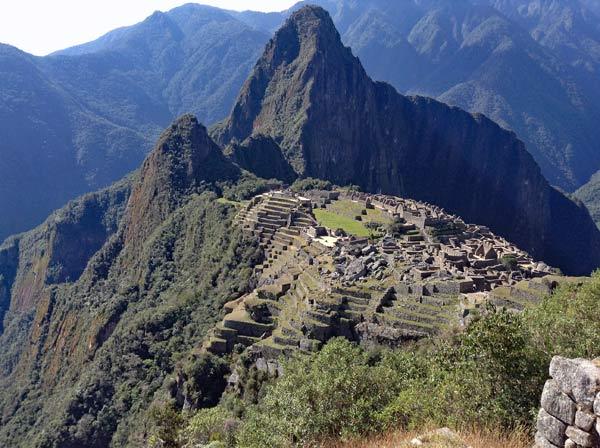 Ausblick auf Machu Picchu Peru