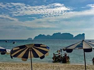 Backpacking Thailand und der Ausblich auf einen Drehort von The Beach