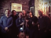 The wonderful Wednesday night session gang at Boyles Pub Slane Ireland. Thanks for tolerating my attempt to play along boys!!!