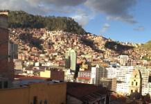 Blick auf La Paz, Bolivien