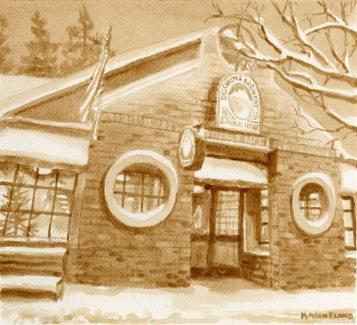 Karen Eland pictează cu bere și cafea