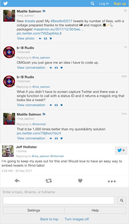 R⁶ — Capture Tweets with tweet_shot()