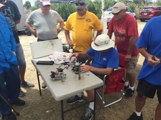Al checking Thunderboat motors