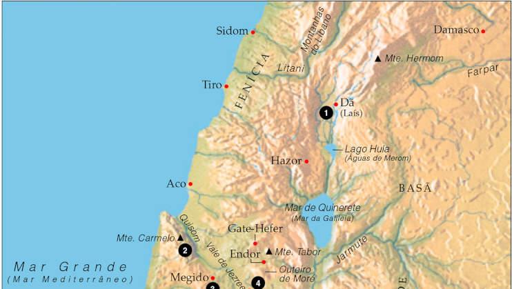 mapa da siro-fenicia e a mulher cananeia