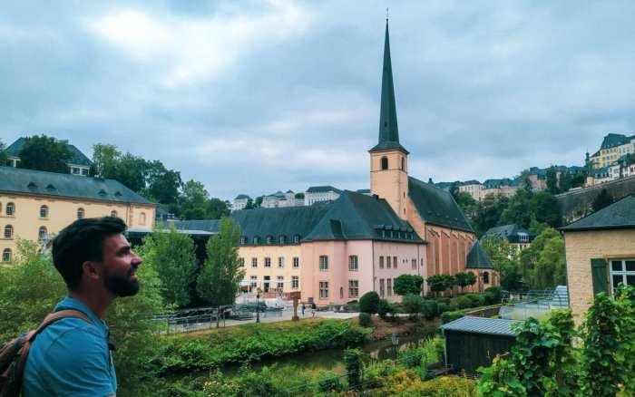 urocze uliczki w miescie Luksemburg