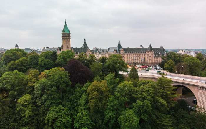 miasto Luksemburg tereny zielone