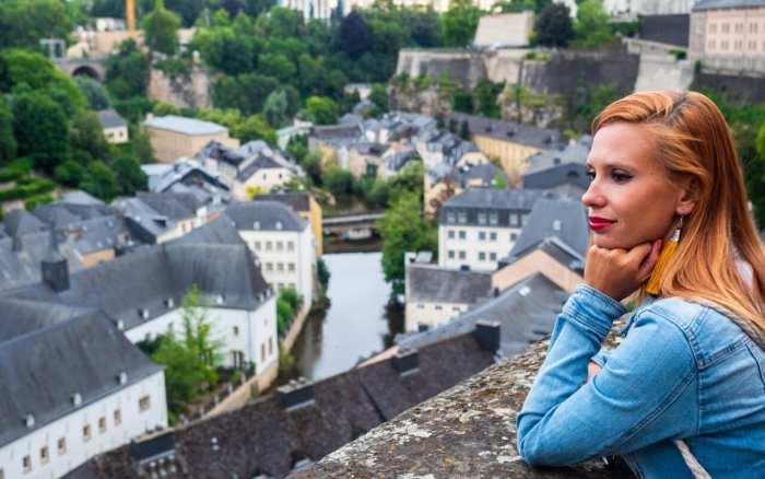 miasto Luksemburg widok panoramiczny