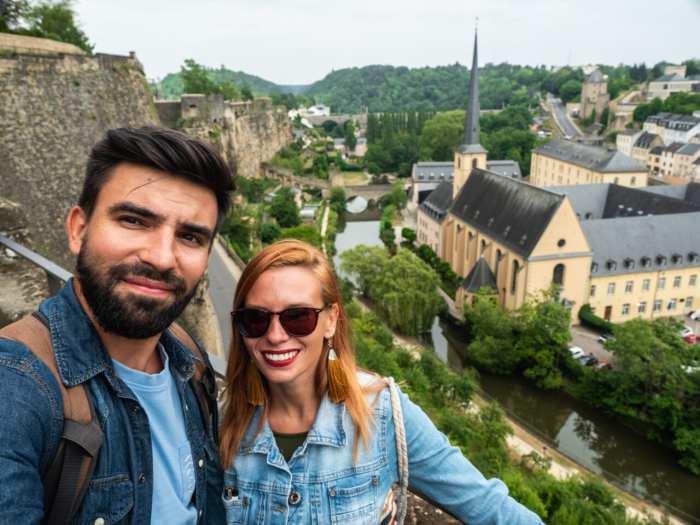 Luksemburg widok na stare miasto