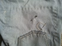 # 3 Levis back left pocket