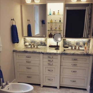 Poplar Bathroom Built-In Vanity