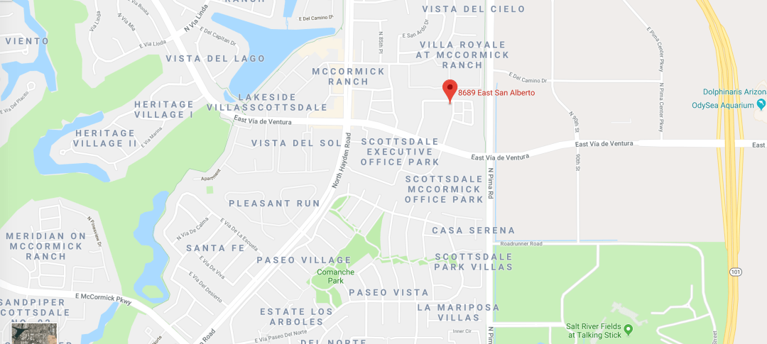 Map showing location of Rudolph and Hammond Law Offices