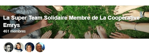 groupe facebook la super team solidaire de la coopérative emrys