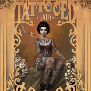 """The Amazing Tattooed Lady"" digital"