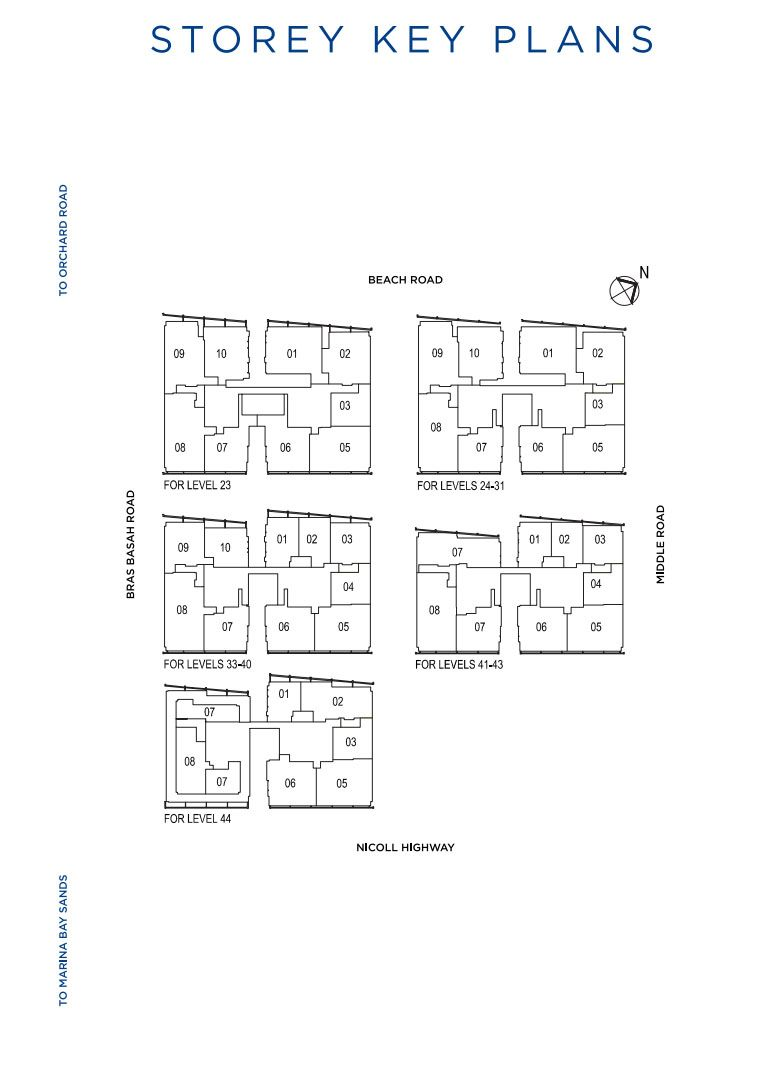 South Beach Residences units mix and floor plans