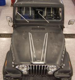 original straight chrome front bumper chrome mirrors grill overlay all in much better than expected condition jeep frame cover  [ 800 x 1066 Pixel ]