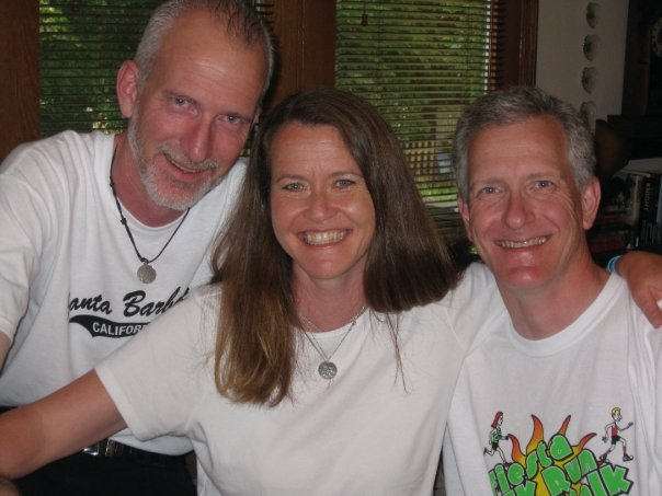 "A rare ""sibs pic"" with big bros Rick and Steve :-)"