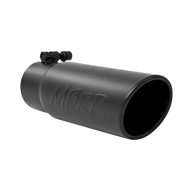 mbrp exhaust tip 3 1 2 inch o d angled rolled end 3 inch inlet 10 inch length black t304 stainless steel t5115blk