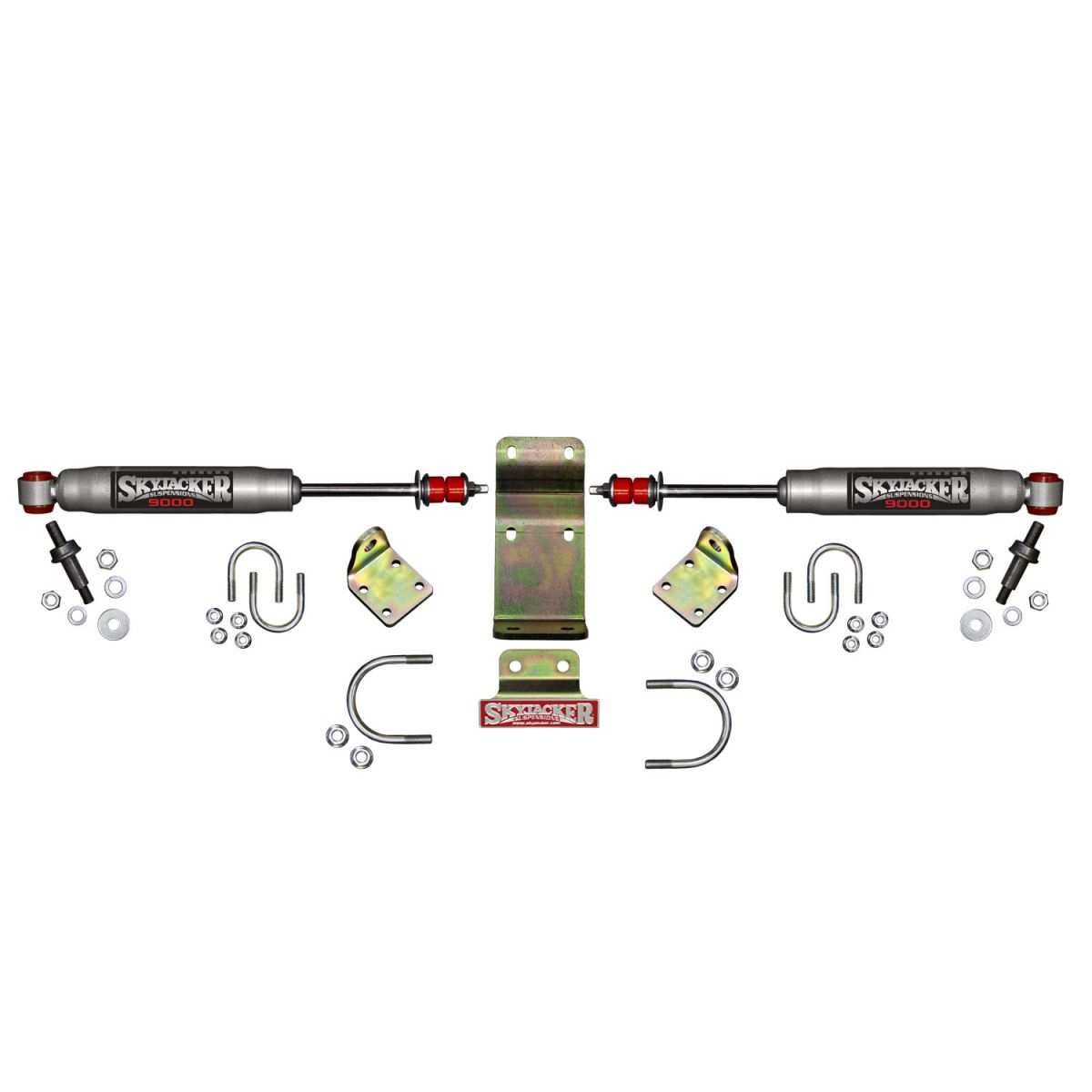Skyjacker High Clearance Silver Dual Steering Stabilizer