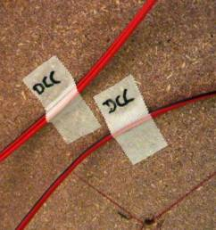 the track block numbers are written on the tape or simply the word dcc to distinguish form other wires  [ 1200 x 675 Pixel ]