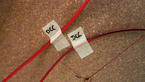small resolution of the track block numbers are written on the tape or simply the word dcc to distinguish form other wires
