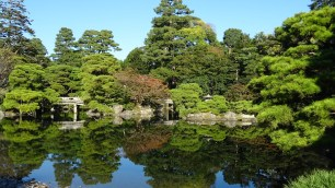 Beautiful garden of the Imperial palace