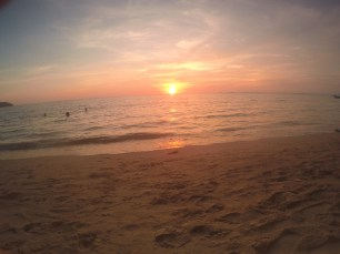 sunset at Otres beach