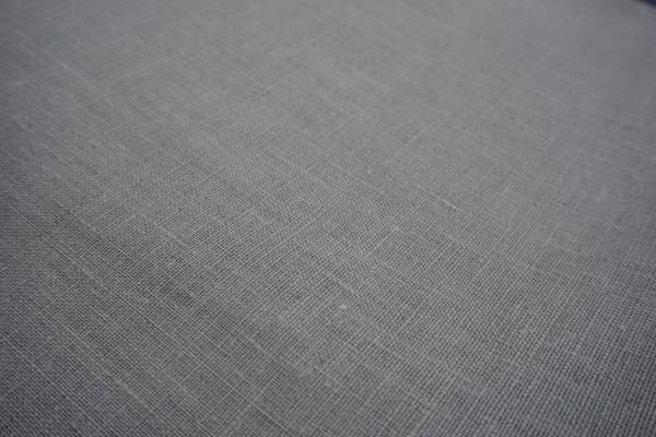 Tissu de lin gris
