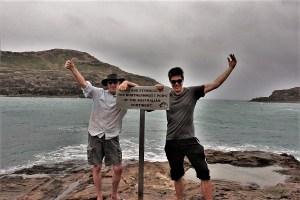 Mit meinem Sohn am nördlichsten Punkt des Australischen Kontinents. Cape York 2017