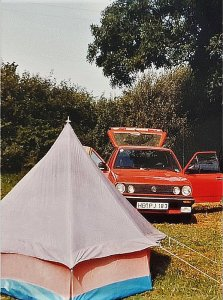 About me. With car and a tent to the Algarve/Portugal 1987