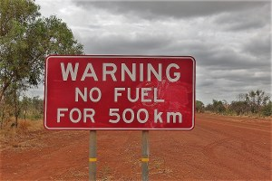 warning sign no fuel australia
