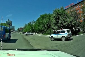 Polizeiwagen in Kasachstan