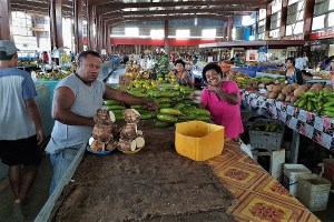 In the Lautoka market hall