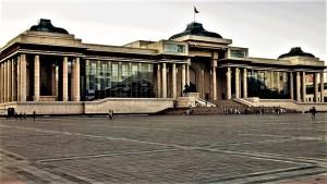 Parlamentsgebäude in Ulaanbaatar