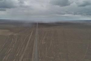 Straße und Tracks in der Mongolei