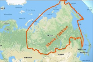 Map Siberia / Karte Sibirien