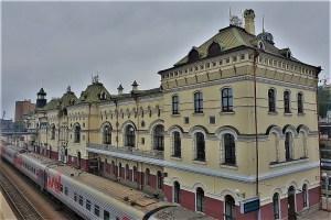 Bahnhof der Transsibirischen Eisenbahn Wladiwostok