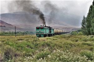 Güterzug in Kirgistan