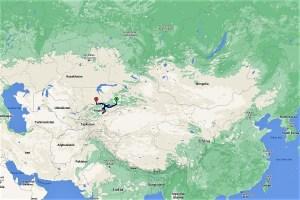 Lage von Kirgistan