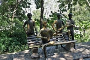 Denkmal für die Beatles, Almaty, Kasachstan