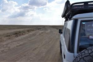 Track im Westen von Kasachstan