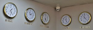 Uhren im Hotel