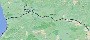 Meine Route im Westen von Georgien