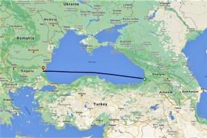 Meine Route übers Schwarze Meer