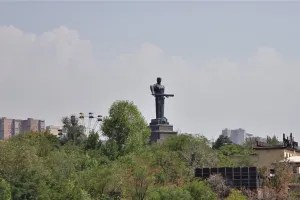 Mother Armenia Statue in Yerevan Victory Park, Armenia