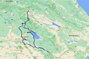 Our route through Armenia