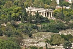 Hephaistos Tempel auf der antiken Agora, Athen