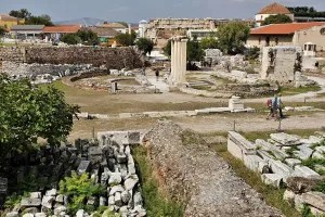 Roman Agora in Athens Greece